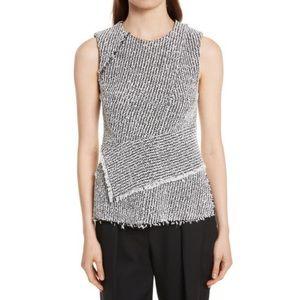 3.1 Phillip Lim Tweed Knit Faux Wrap Top